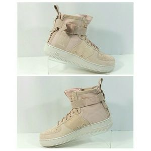 Nike SF AF1 Air Force 1 Mid Shoes Particle Beige